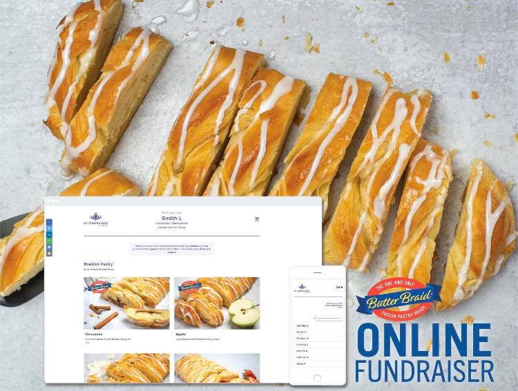 Online Fundraiser - Butter Braid pastry with images from online store